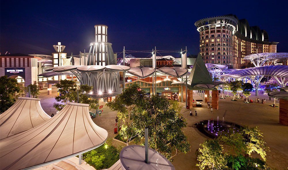 Resorts World Sentosa Aerial Shot