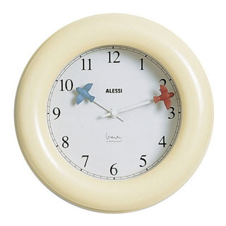 Kitchen wall clock by Michael Graves Design for Alessi