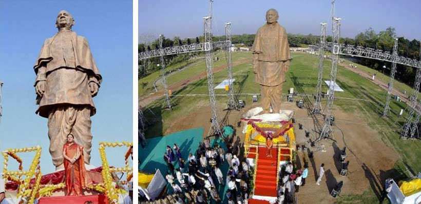 A 30-foot replica of the 466-foot statue