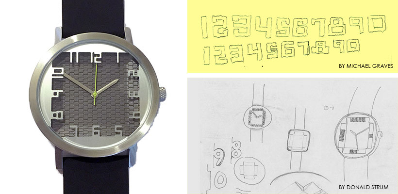 Inspiration Watch Numbers from Michael Graves's Sketches