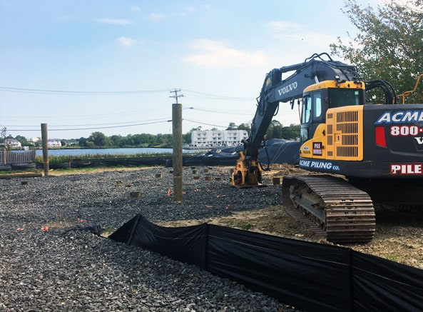 View of the Manahassett Creek from the Meyer House construction site in Monmouth Beach, N.J..