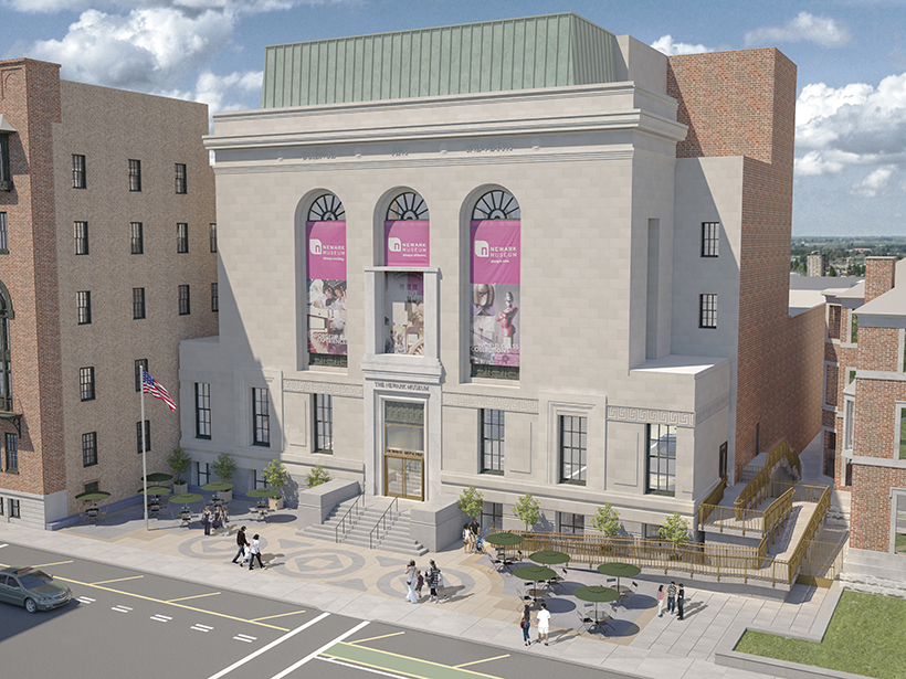 Newark Museum Entrance Rendering
