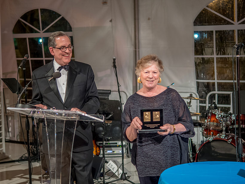 Photo Courtesy of Newark Museum, Karen Nichols, FAIA accepted the John Cotton Dana Commemorative Medal Award on behalf of Michael Graves Architecture & Design