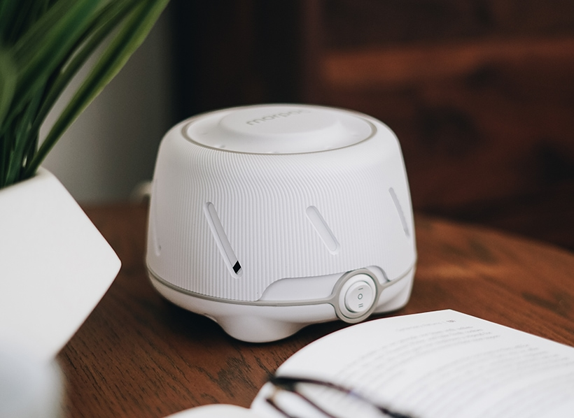 Marpac Dohm Elite in white/gray, designed by MGA&D. Photo Credit Marpac.