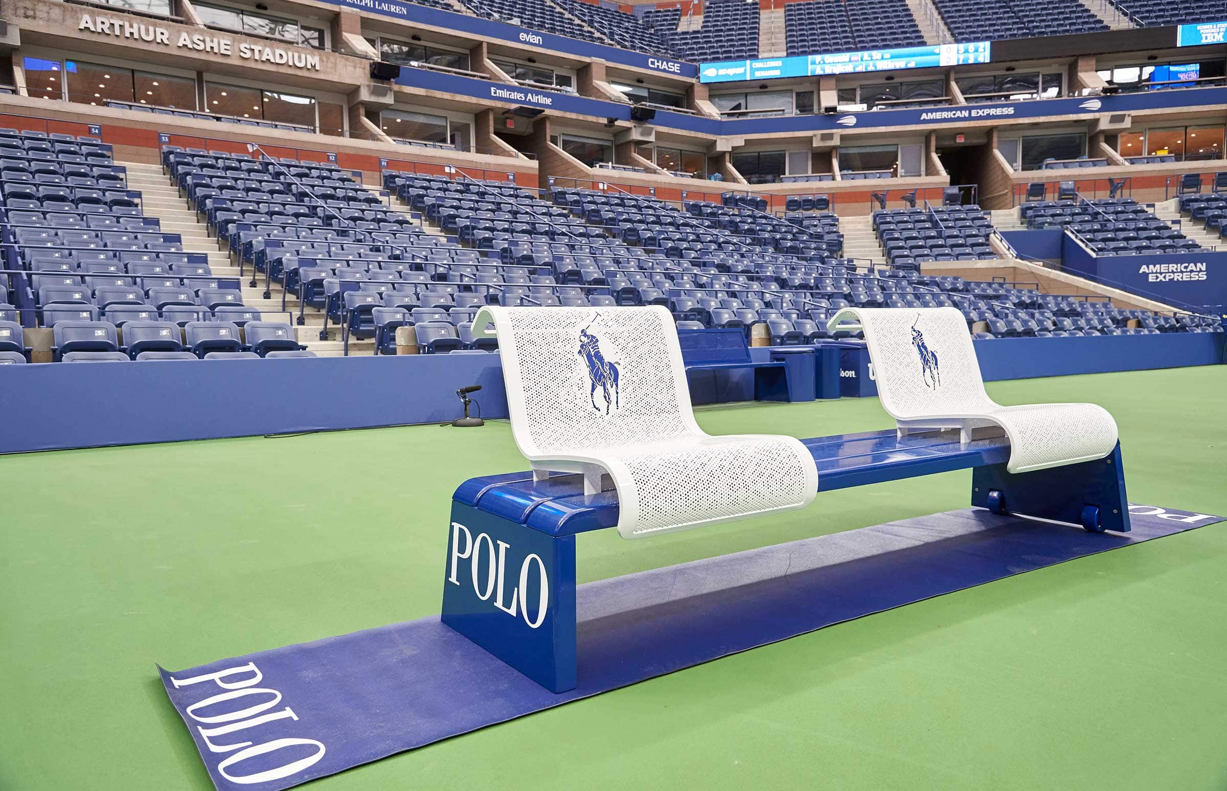 US Open Players Bench