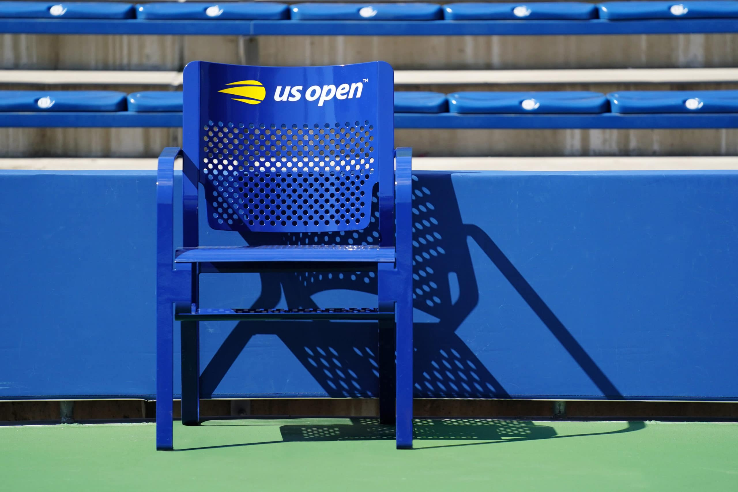 August 30, 2019 - A line umpire chair at the 2019 US Open. (Photo by Daniel Shirey/USTA)