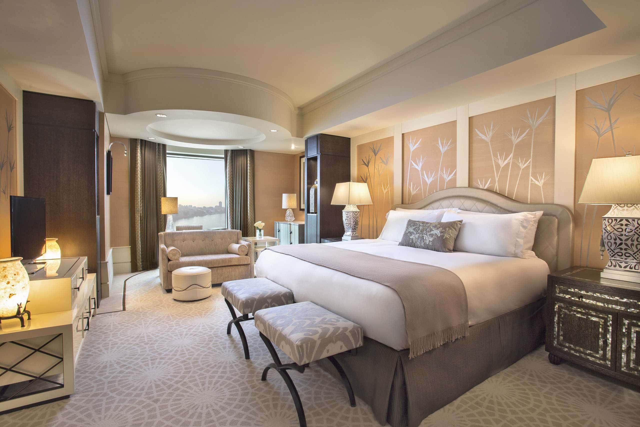 St Regis Nile Corniche Guest Room Interior Design