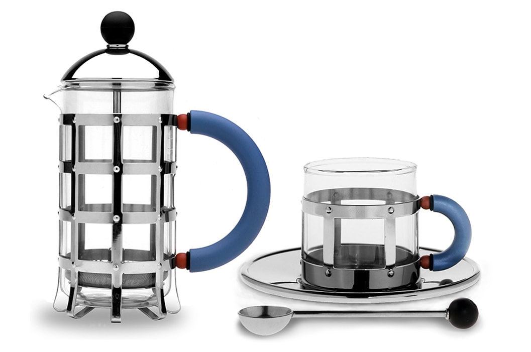 Alessi Inline Collection Coffee Cup and French Press Coffee Pot