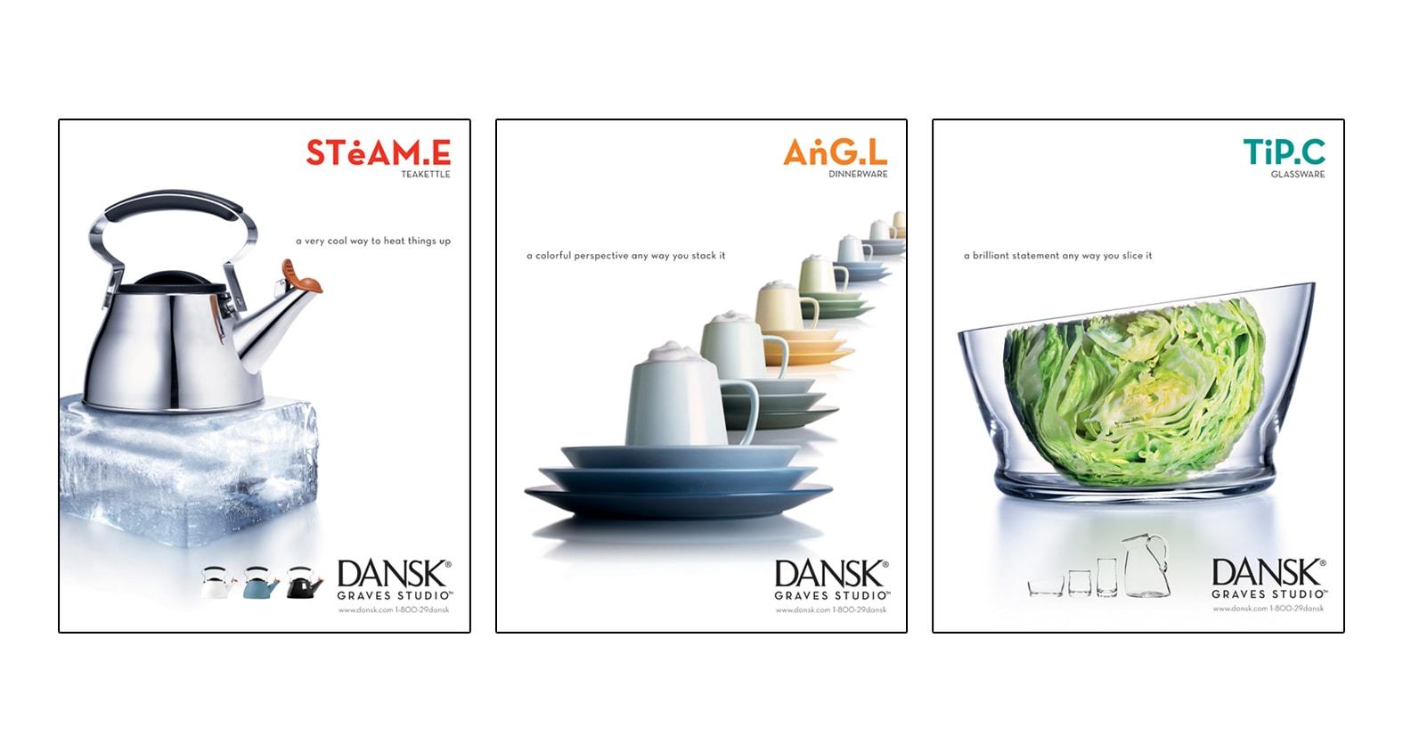 Dansk Magazine Advertising by Michael Graves