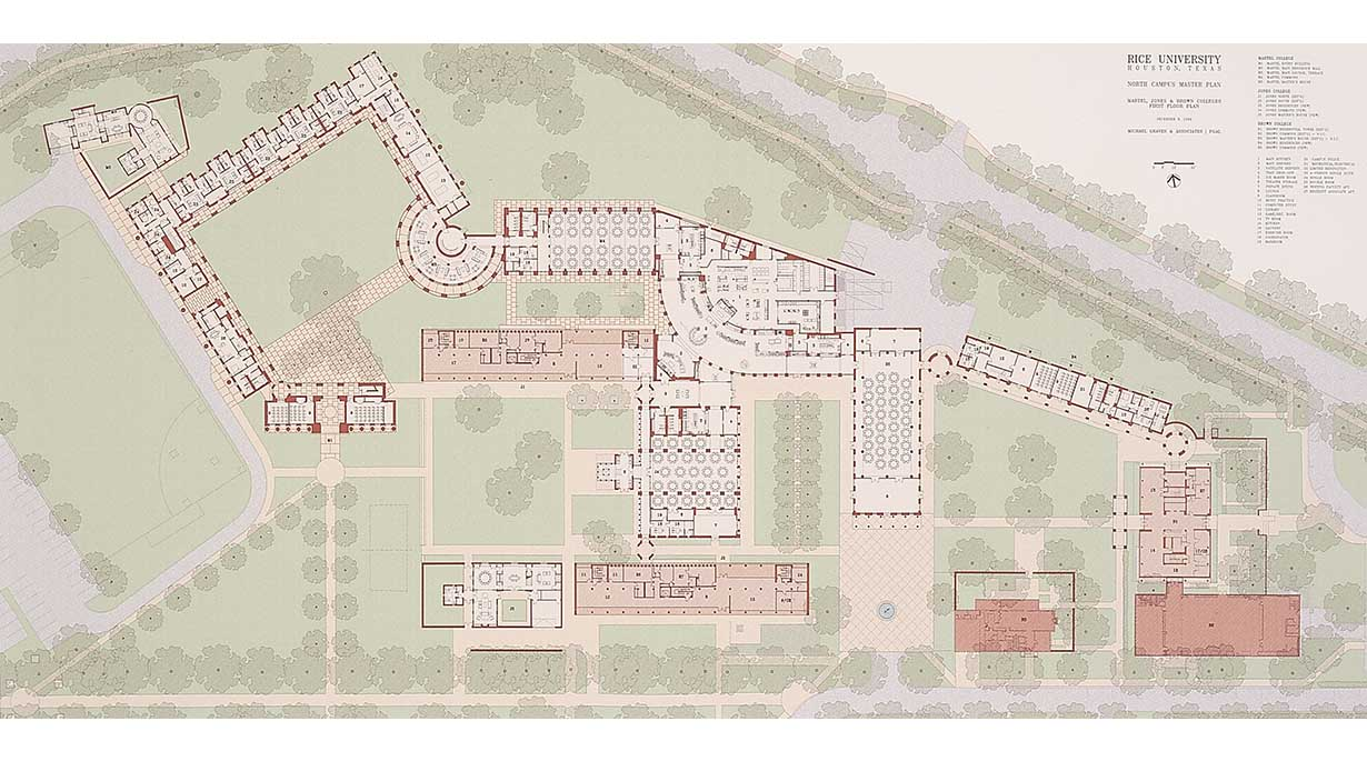 Rice University Master Plan by Michael Graves