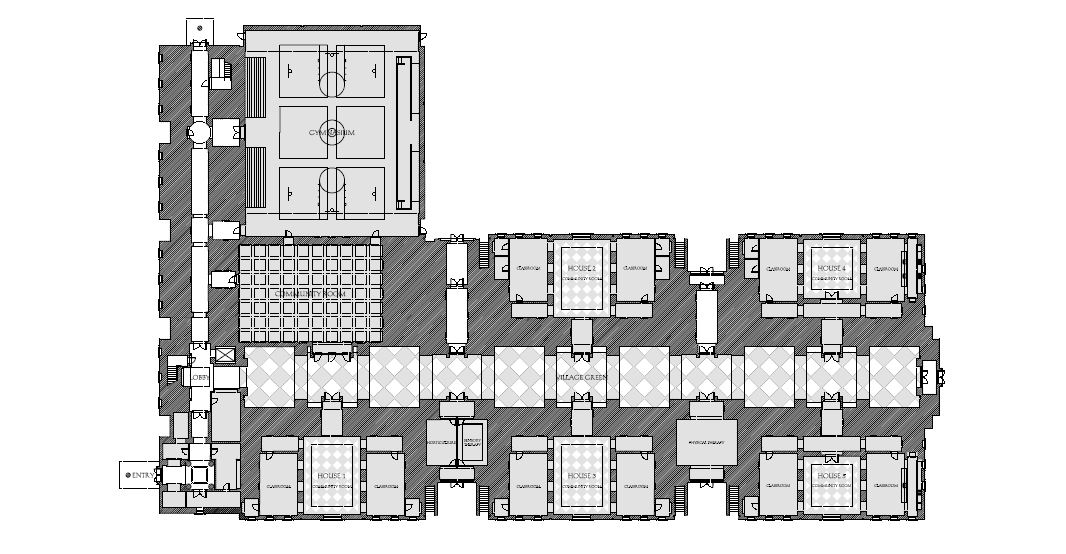 St Coletta first floor plan