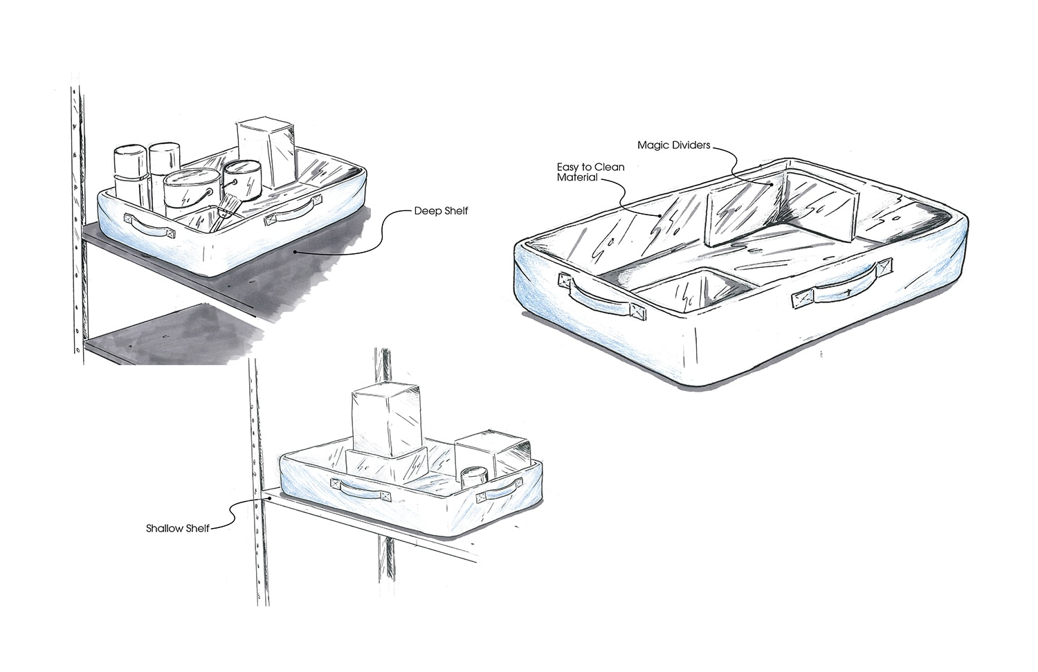 Target Storage Research Easy Clean Storage Tray Concept by Michael Graves