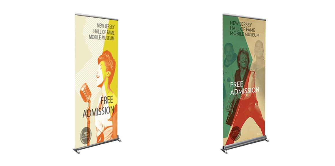 NJHOF Pop-Up Banners by Michael Graves