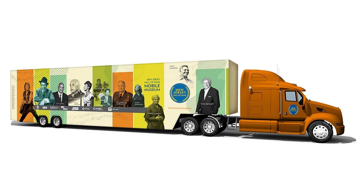NJHOF Truck Wrap by Michael Graves