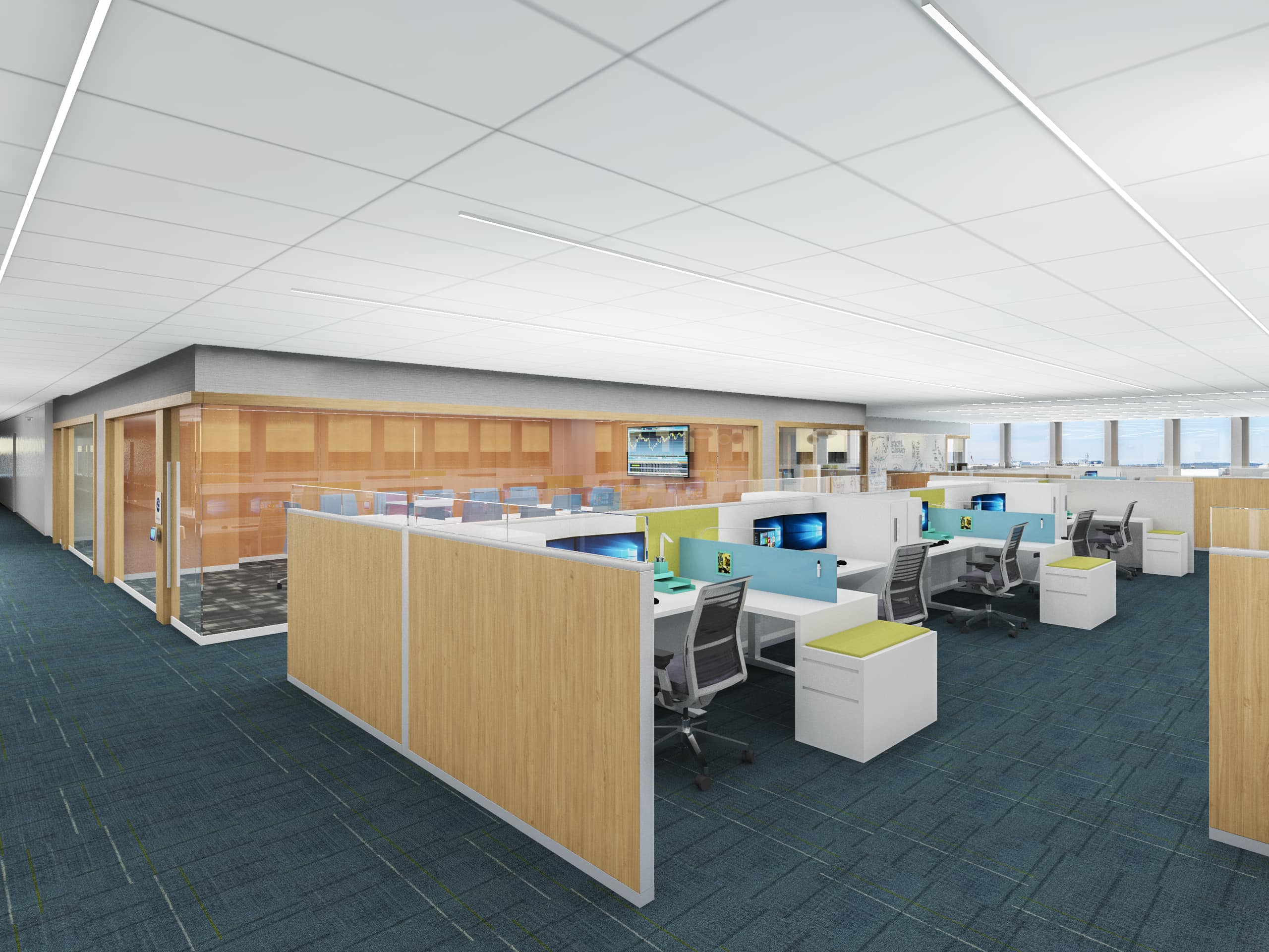 Financial Services Company Washing DC Corporate Workplace Open Office by Michael Graves