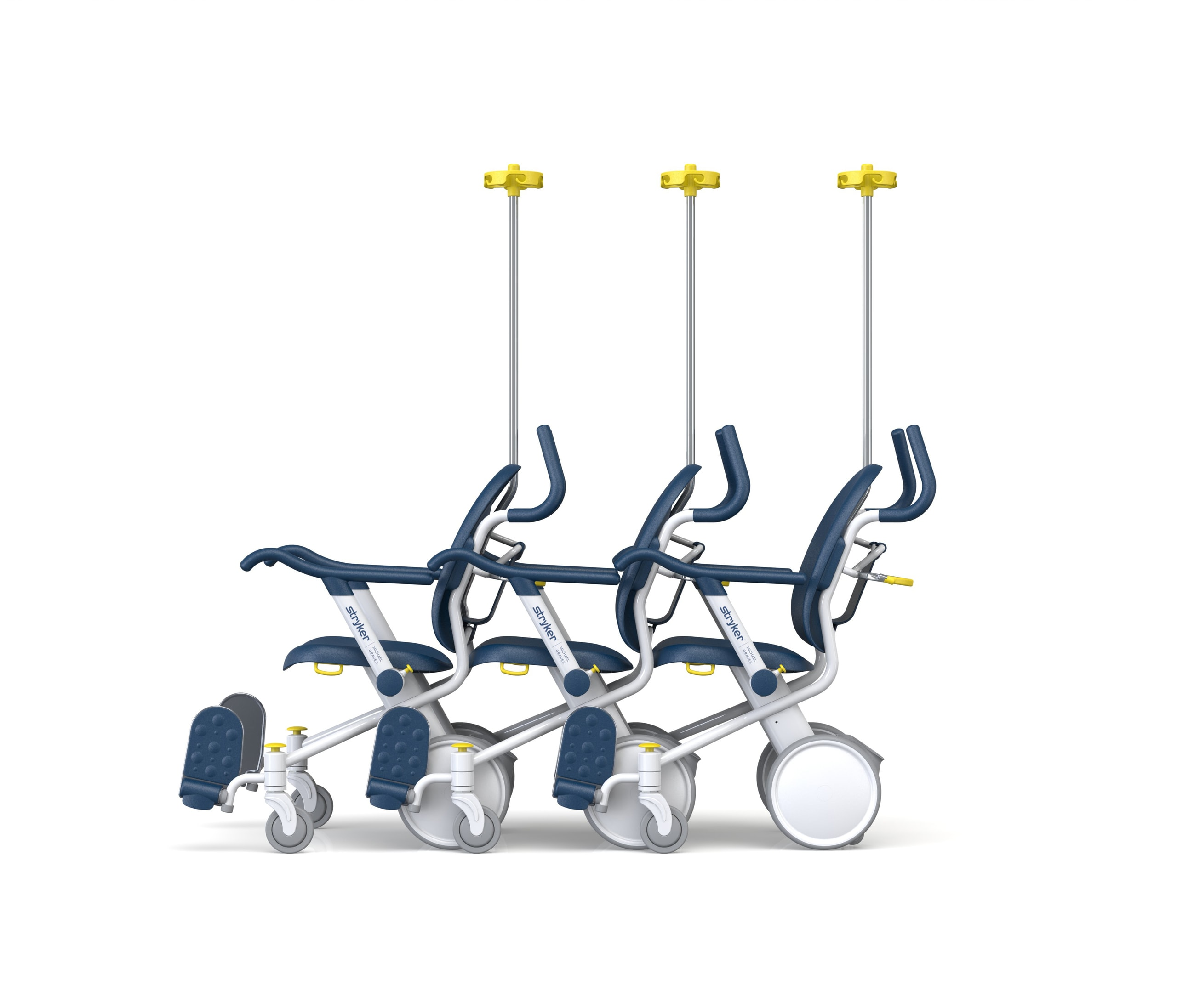 Stryker Prime TC Escort Chair Stacking