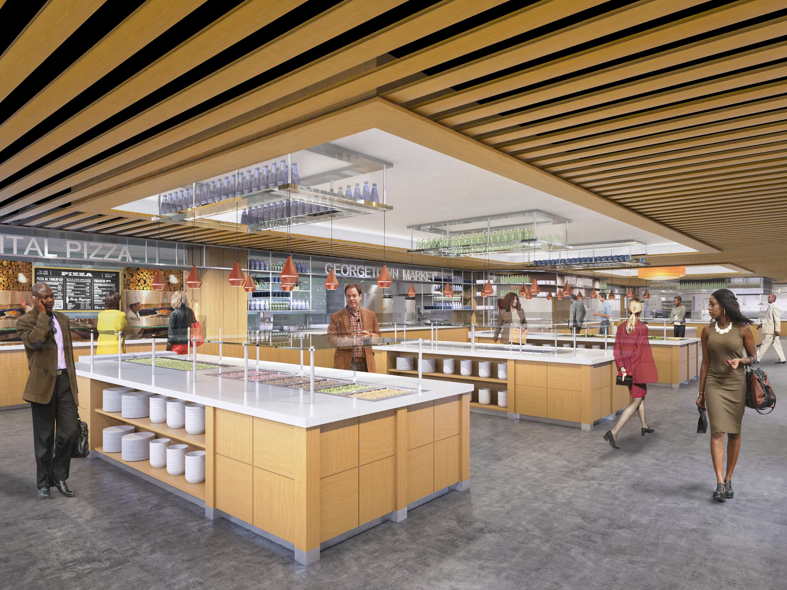 Financial Services Company Washing DC Corporate Workplace Servery by Michael Graves