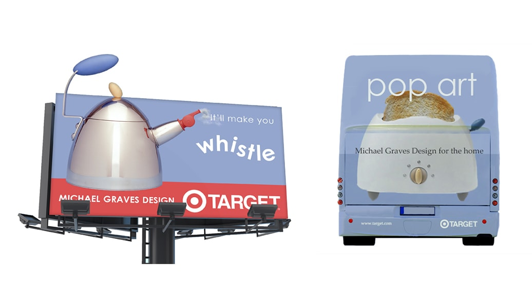 Target Billboard and Bus Back Advertising and Marketing by Michael Graves