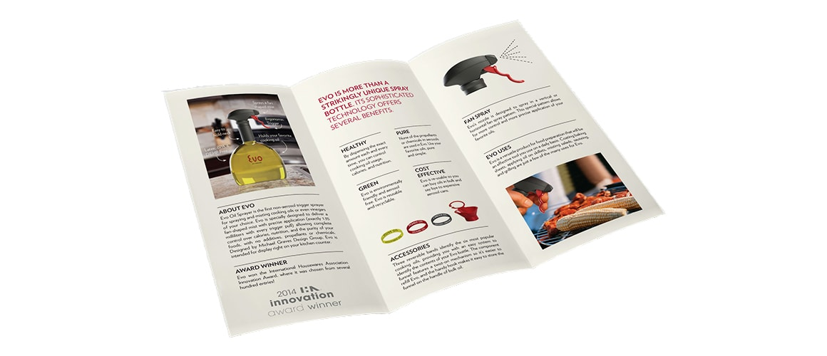 Evo Oil Sprayer Sales Brochure Inside by Michael Graves