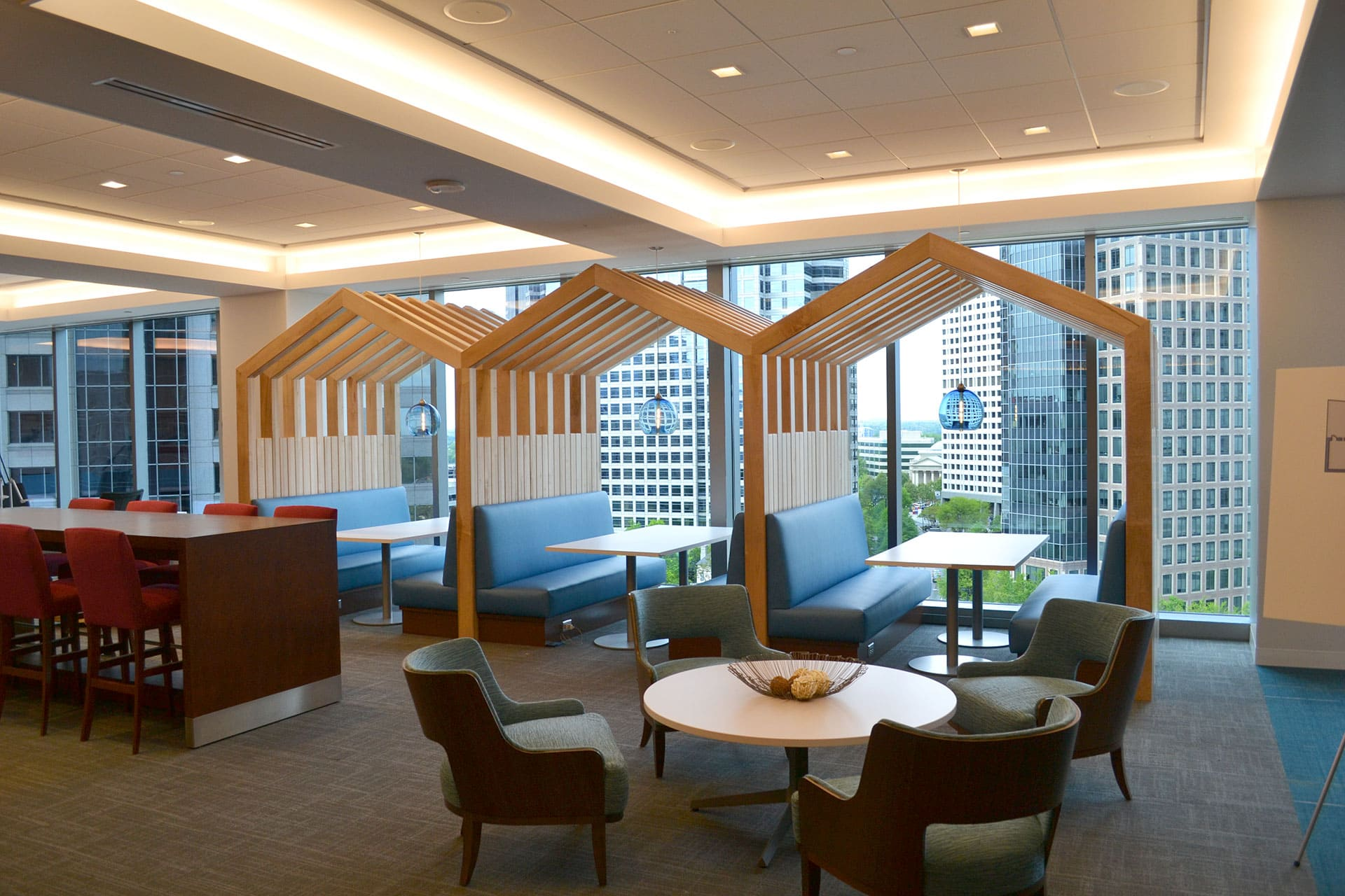 Financial Services Company Workplace Transformation Pilot Town Center by Michael Graves