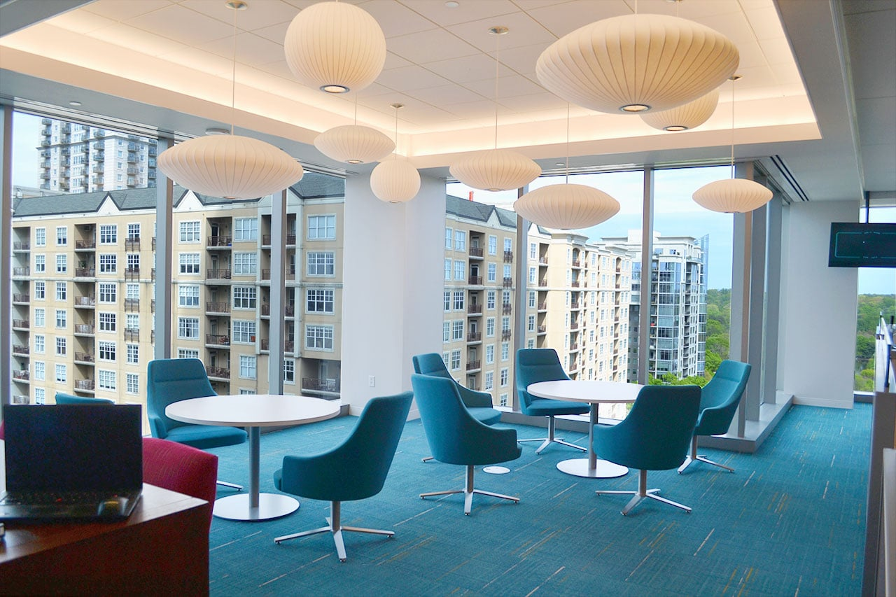 Financial Services Company Workplace Transformation Pilot Lounge by Michael Graves
