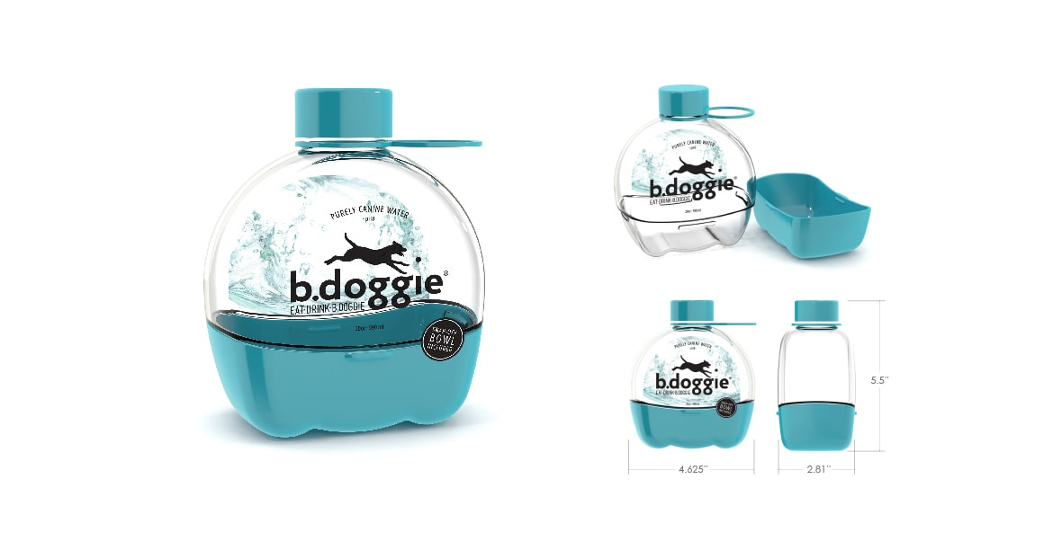b.doggie drink bottle packaging design by Michael Graves