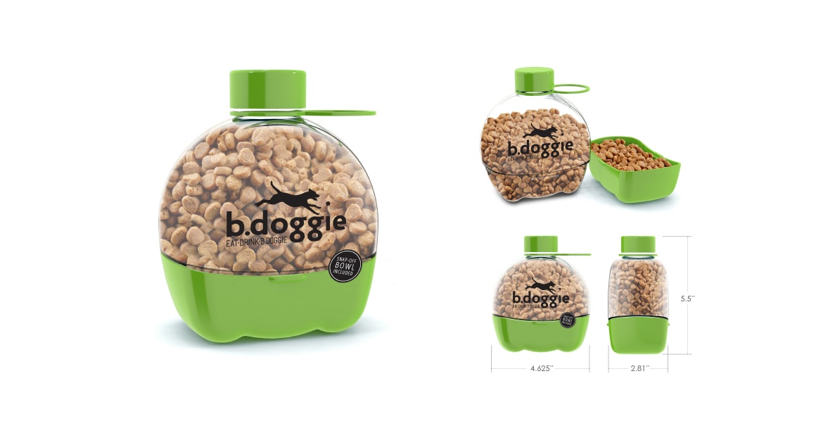 b.doggie food container packaging label design by Michael Graves