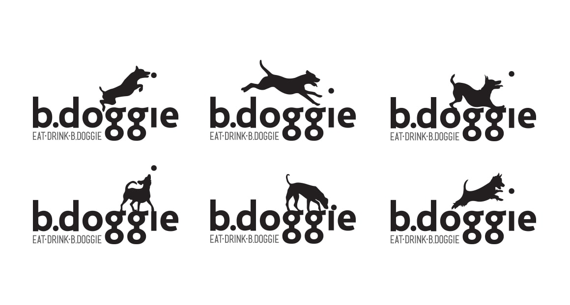 b.doggie flexible logo system by Michael Graves